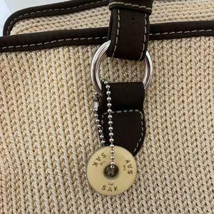 The Sak beige knit tote
